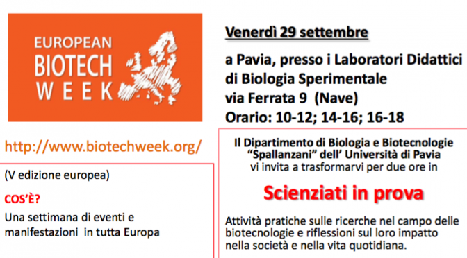 Scienziati in prova – European Biotech Week 2017