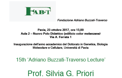 15th Adriano Buzzati-Traverso Lecture