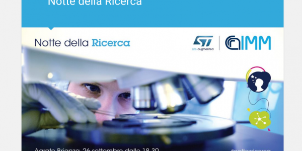 "STMICROELECTRONICS: ""NOTTE DELLA RICERCA"" – 26 settembre 2019"