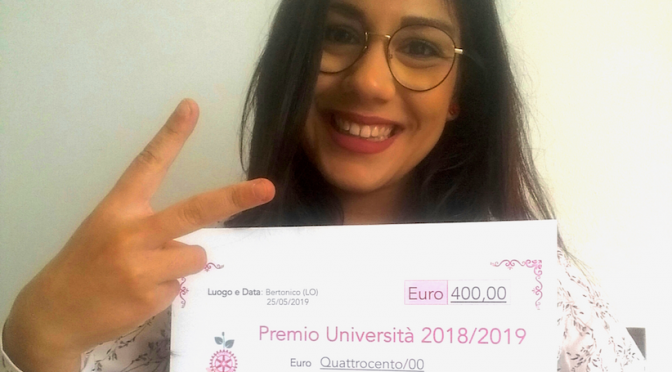 Premio Università 2018 a una studentessa DBB