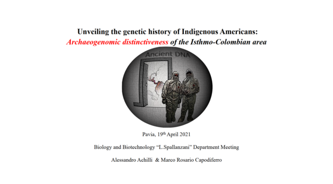 DBB Seminars Kick off – Unveiling the genetic history of Indigenous Americans: Archaeogenomic distinctiveness of the Isthmo-Colombian area